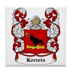 Korwin Coat of Arms Tile Coaster
