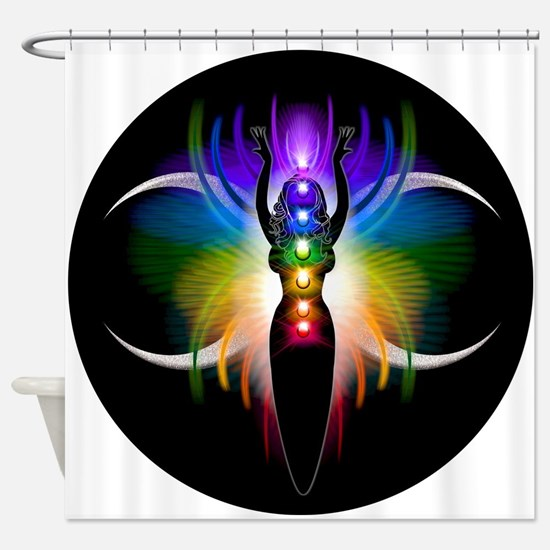 Chakra Goddess Shower Curtain