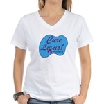 cure_lupusnew.png Women's V-Neck T-Shirt