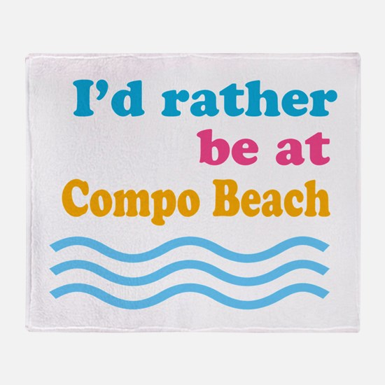 compobeach.png Throw Blanket
