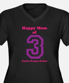 Personalized Mother Women's Plus Size V-Neck Dark