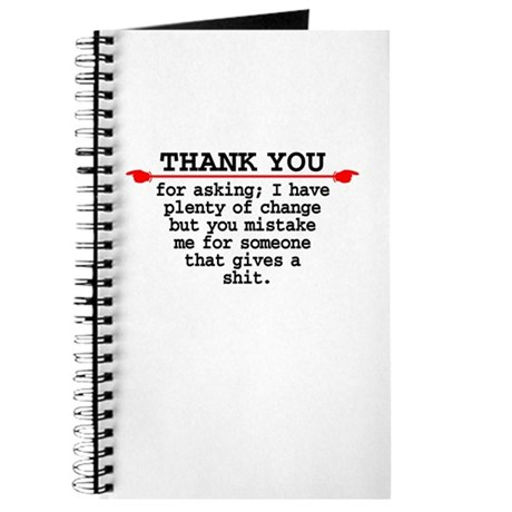 Thank You For Asking - Journal