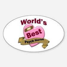 Cool Psych nurse Sticker (Oval)