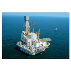 Off-shore oil rig Canvas Art