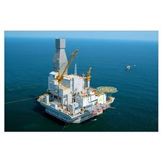 Off-shore oil rig Poster
