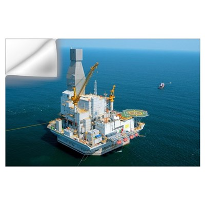 Off-shore oil rig Wall Decal