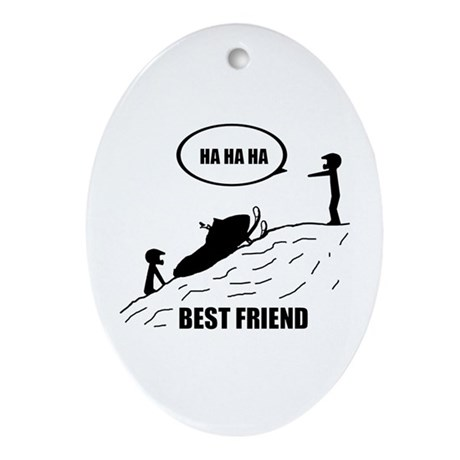 Best Friend Ornament (Oval)