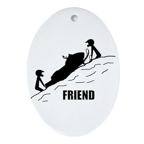 Friend Ornament (Oval)