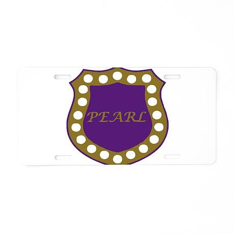 Omega Pearl Shield Aluminum License Plate