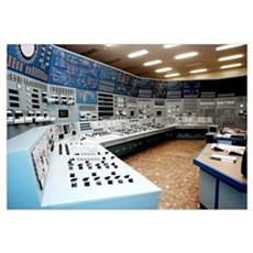Nuclear power station control room Canvas Art