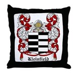 Kleinfield Coat of Arms Throw Pillow