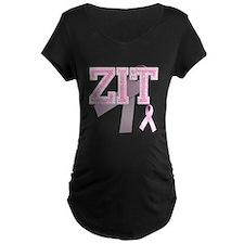 ZIT initials, Pink Ribbon, T-Shirt