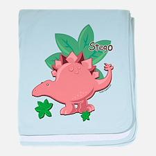 little stegosaurus baby blanket