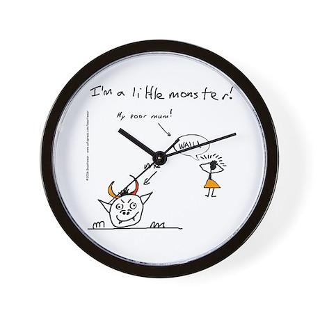 Little Monster (Mum Wails) Wall Clock