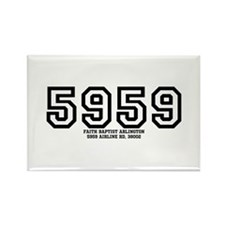 5959 Airline Road Rectangle Magnet
