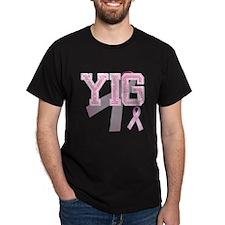 YIG initials, Pink Ribbon, T-Shirt