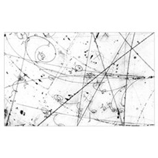 Neutrino particle interaction event Canvas Art