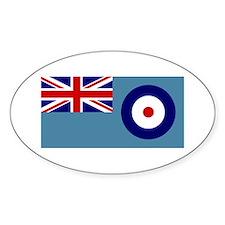 UK's RAF Flag Shoppe Oval Decal