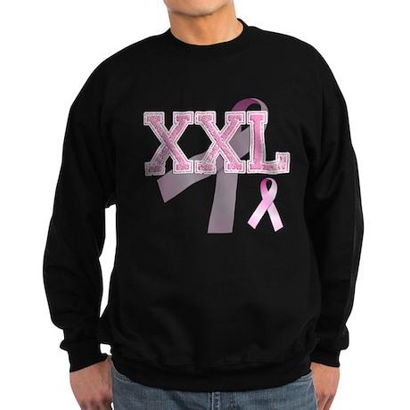 XXL initials, Pink Ribbon, Sweatshirt (dark)