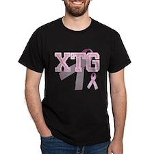 XTG initials, Pink Ribbon, T-Shirt