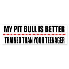 My Pit Bull Bumper Bumper Sticker