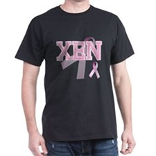 XEN initials, Pink Ribbon, T-Shirt
