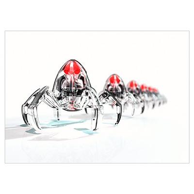 Nanorobots, artwork Poster