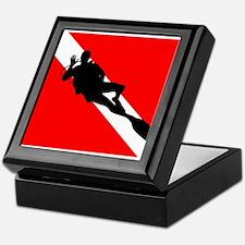Scuba Flag Diver Keepsake Box