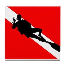 Scuba Flag Diver Tile Coaster