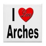I Love Arches Tile Coaster