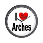 I Love Arches Wall Clock
