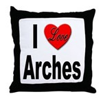 I Love Arches Throw Pillow