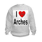 I Love Arches (Front) Kids Sweatshirt