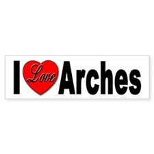 I Love Arches Bumper Bumper Sticker