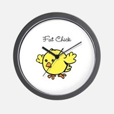 Fat Chick Wall Clock