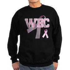 WEC initials, Pink Ribbon, Sweatshirt