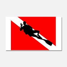 Scuba Flag Diver Car Magnet 20 x 12