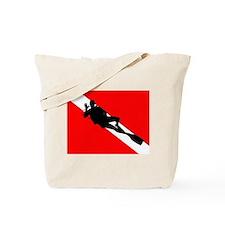 Scuba Flag Diver Tote Bag