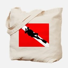 Scuba Flag Diver Tote Bag