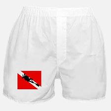 Scuba Flag Diver Boxer Shorts