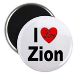 I Love Zion Magnet