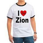 I Love Zion (Front) Ringer T