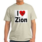I Love Zion (Front) Ash Grey T-Shirt