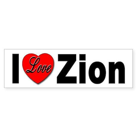 I Love Zion Bumper Sticker