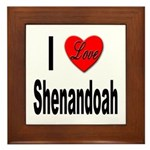 I Love Shenandoah Framed Tile
