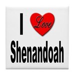I Love Shenandoah Tile Coaster