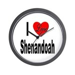 I Love Shenandoah Wall Clock