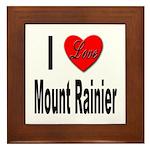I Love Mount Rainier Framed Tile