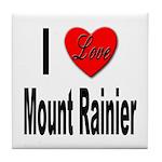 I Love Mount Rainier Tile Coaster
