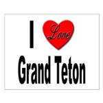 I Love Grand Teton Small Poster